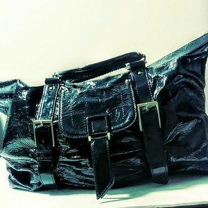Boktier black patent leather handbag